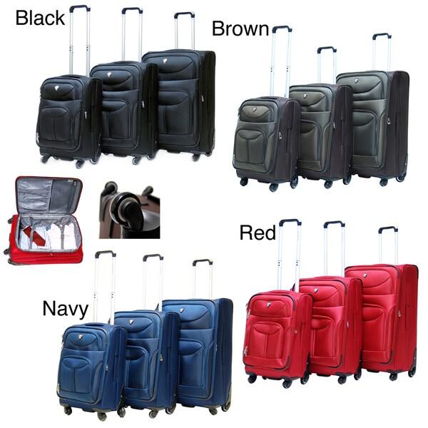CalPak Langley 3-piece Expandable Spinner Luggage Set
