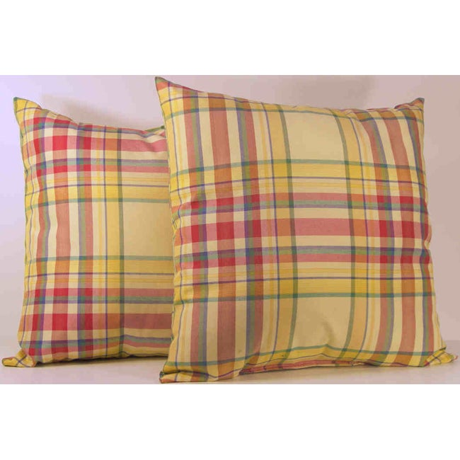 Syon Park Amber Plaid Toss Pillows (Set of 2)