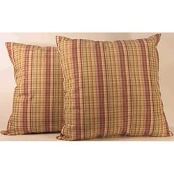 Sparrow Orchid Plaid Toss Pillows (Set of 2)