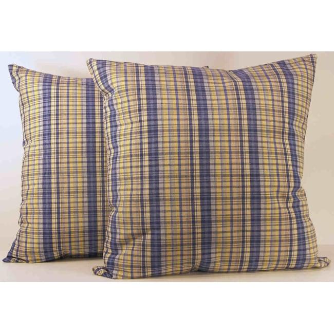Sparrow Horizon Plaid Pillows (Set of 2)