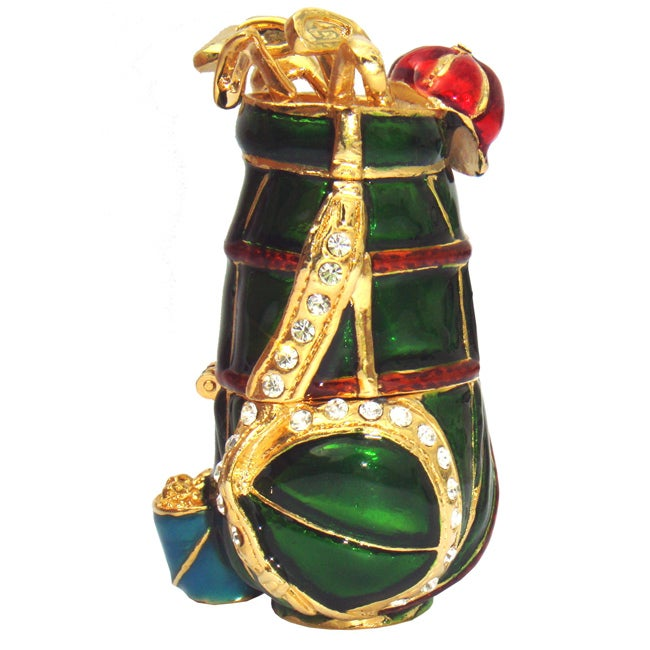 Cristiani Crystal Jeweled Golf Trinket Box