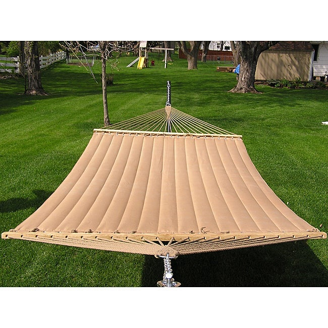 Grand Super 2-person Brown Quilted Hammock - Thumbnail 0