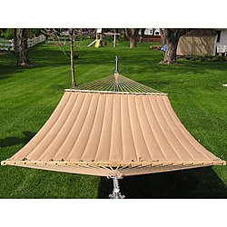 Grand Super 2 Person Brown Quilted Hammock