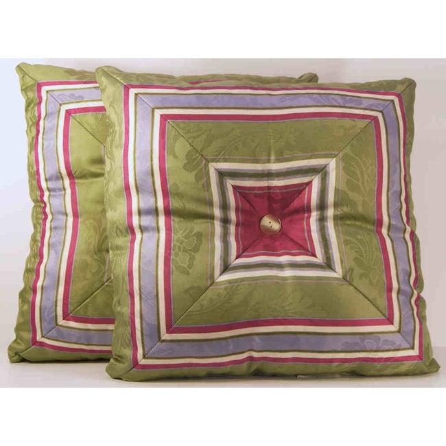 Mitered Stripe Throw Pillows (Set of 2)