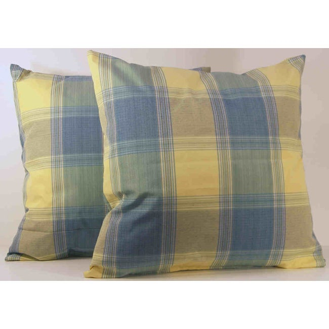 Duncaster Check Throw Pillows (Set of 2)