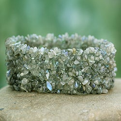 Labradorite 'Sensuous' Stretch Bracelet (India)