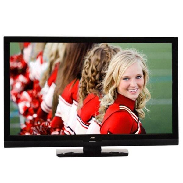 """JVC JLC42BC3000 1080p 120Hz Black Crystal Series 42"""" LCD HD TV"""