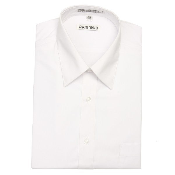 Armando Men's White Convertible Cuff Dress Shirt