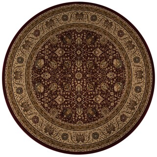 """Westminster Kashan Red Power-Loomed Rug (7'10"""" x 7'10"""" Round)"""