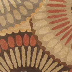 Hand-tufted Bom In Brown Wool Rug (5' x 8') - Thumbnail 1