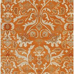 Hand-tufted Sorcica Orange Wool Rug (8' x 11') - Thumbnail 1