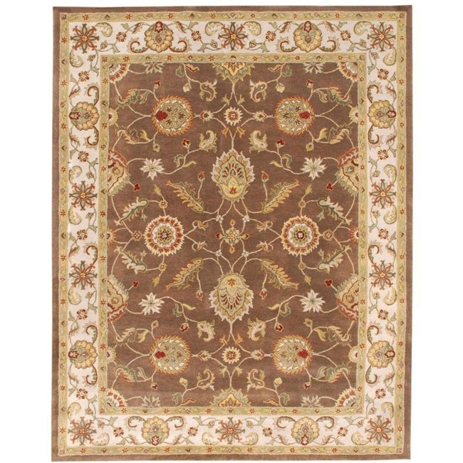 Hand-tufted Mahia Brown Wool Rug (8' X 10') - Thumbnail 0