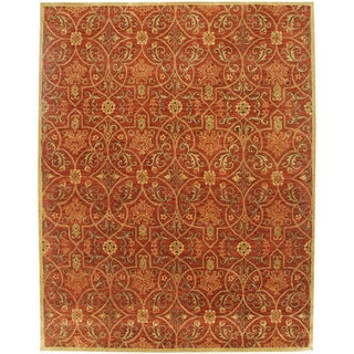 Hand-tufted Malcais Red Wool Rug (9' 6 X 13' 6)