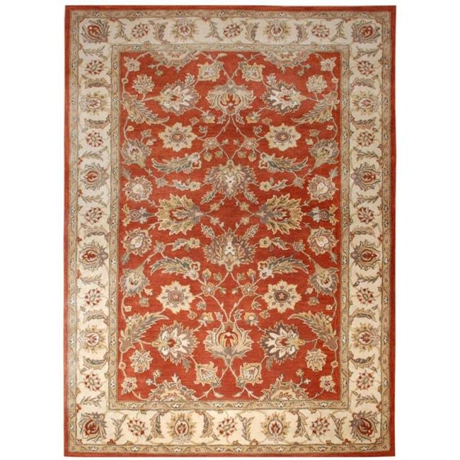 Hand-tufted Mahene Red Wool Rug (5' X 8')
