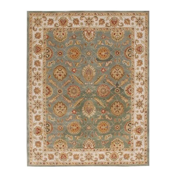 Hand-tufted Calinesto Green Wool Rug (9' x 12')