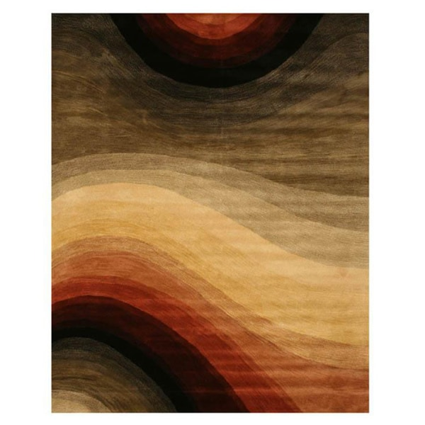 Hand-tufted Wool Contemporary Abstract Desertland Rug (9'6 x 13'6) - 9'6 x 13'6