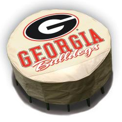 NCAA Georgia Bulldogs Round Patio Set Table Cover - Thumbnail 0