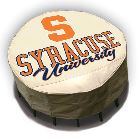 NCAA Syracuse Orangemen Round Patio Set Table Cover