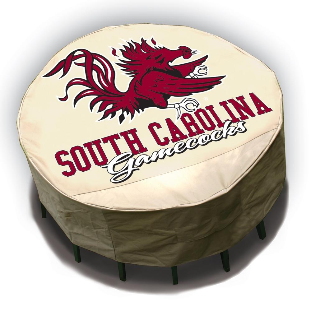 NCAA South Carolina Gamecocks Round Patio Set Table Cover
