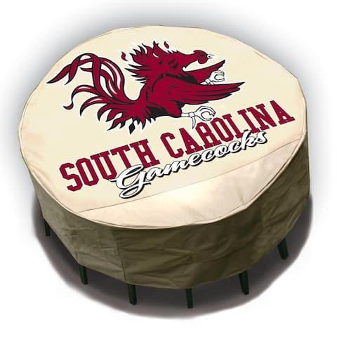 NCAA South Carolina Gamecocks Round Patio Set Table Cover - South Carolina Gamecocks