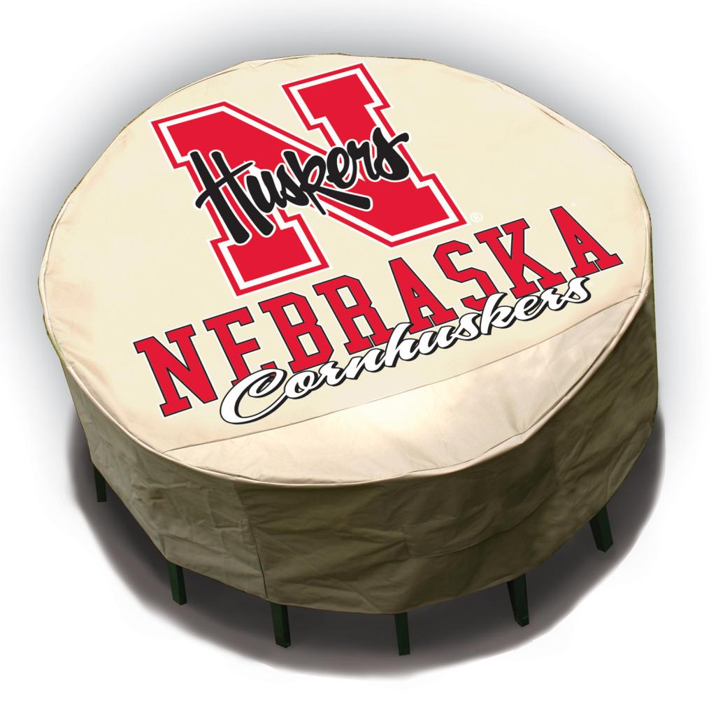 NCAA Nebraska Cornhuskers Round Patio Set Table Cover