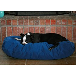Navy Rectangle Pet Bed