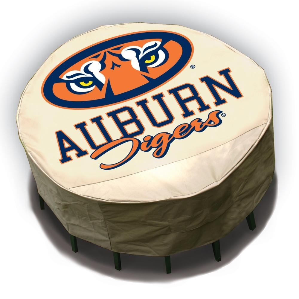 Auburn Tigers Round Patio Set Table Cover