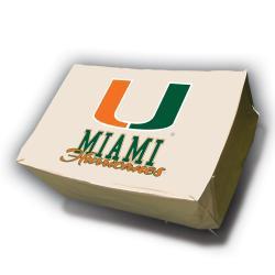 Miami Hurricanes Rectangle Patio Set Table Cover