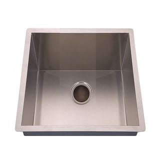 Fine Fixtures Square Handmade Undermount Stainless-Steel Single-Bowl Sink