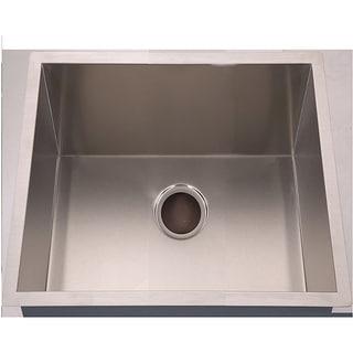 Fine Fixtures Handmade Undermount Stainless Steel Single-bowl Sink