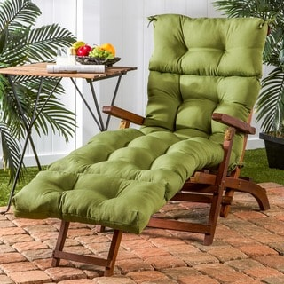 72-inch Outdoor Summerside Green Chaise Lounger Cushion