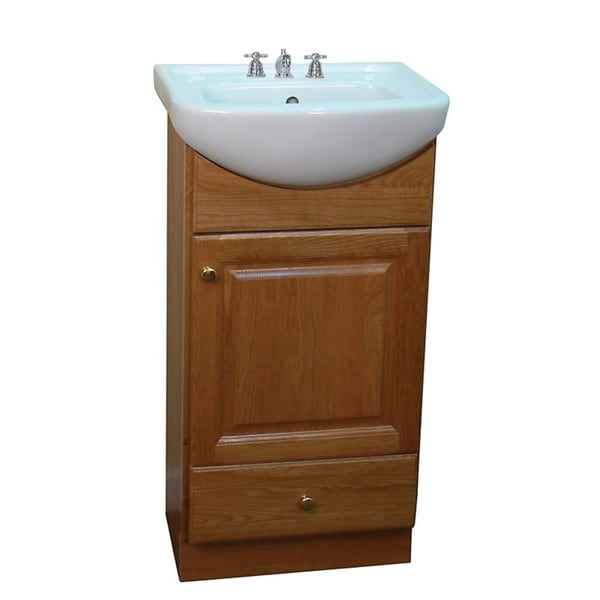 Fine Fixtures Petite 18-inch Oak/Biscuit Bathroom Vanity