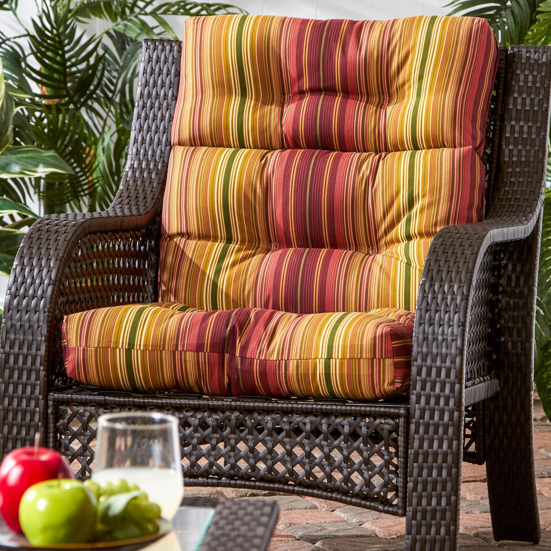 Shop Greendale Home Fashions Kinnabari Outdoor High Back Chair Cushion 22w X 44l Free