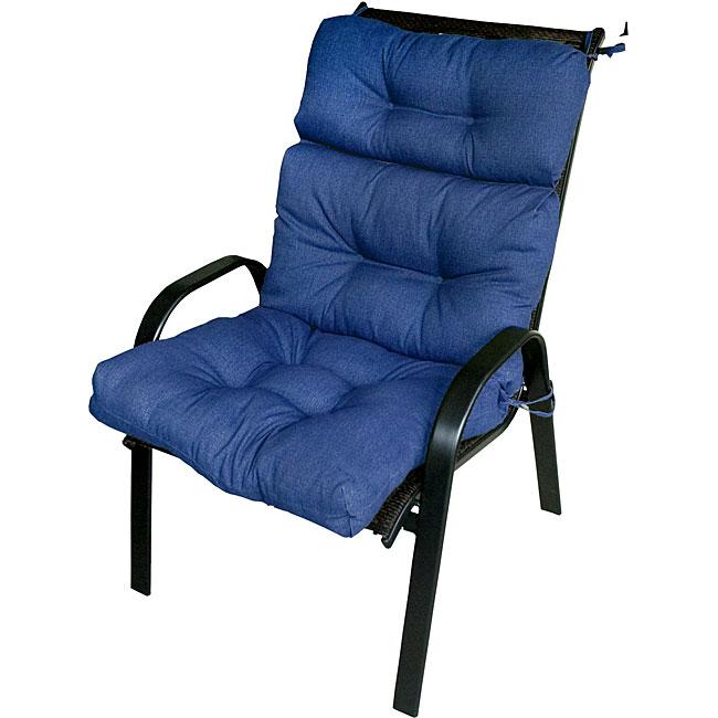 Patio High-back Aquatic Blue Chair Cushion