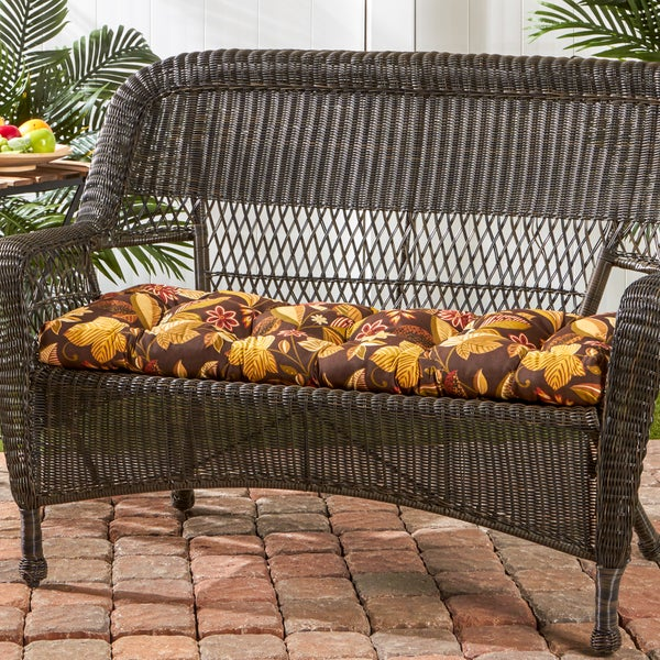 44 Inch Outdoor Timberland Floral Swing Bench Cushion
