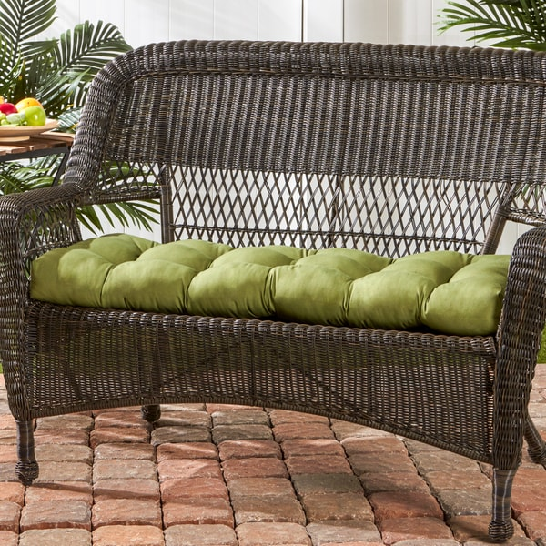 44-inch Outdoor Summerside Green Swing/ Bench Cushion