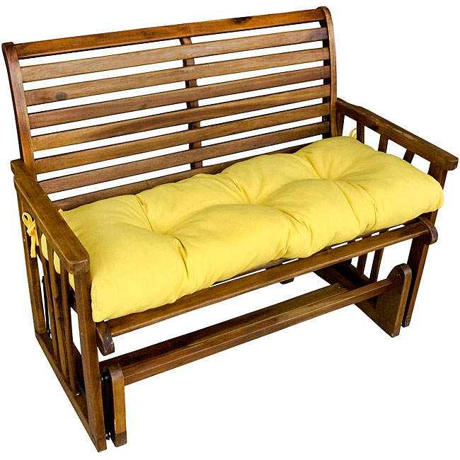 Suncrest Yellow Outdoor Bench Cushion Free Shipping
