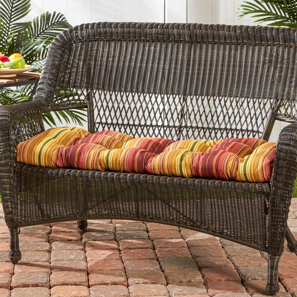 44 Inch Outdoor Kinnabari Stripe Swing Bench Cushion