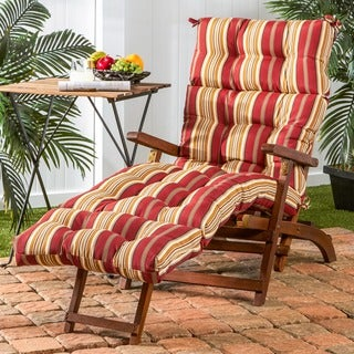 72-inch Outdoor Roma Stripe Chaise Lounger Cushion
