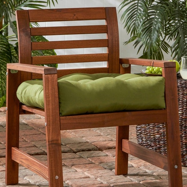 20-inch Outdoor Summerside Green Chair Cushion