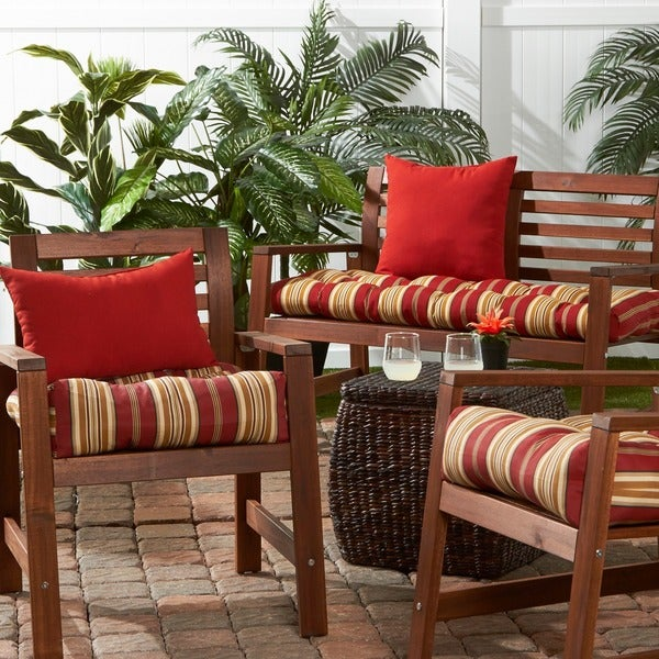20 Inch Outdoor Roma Stripe Chair Cushion   Free Shipping On Orders Over  $45   Overstock.com   13704426