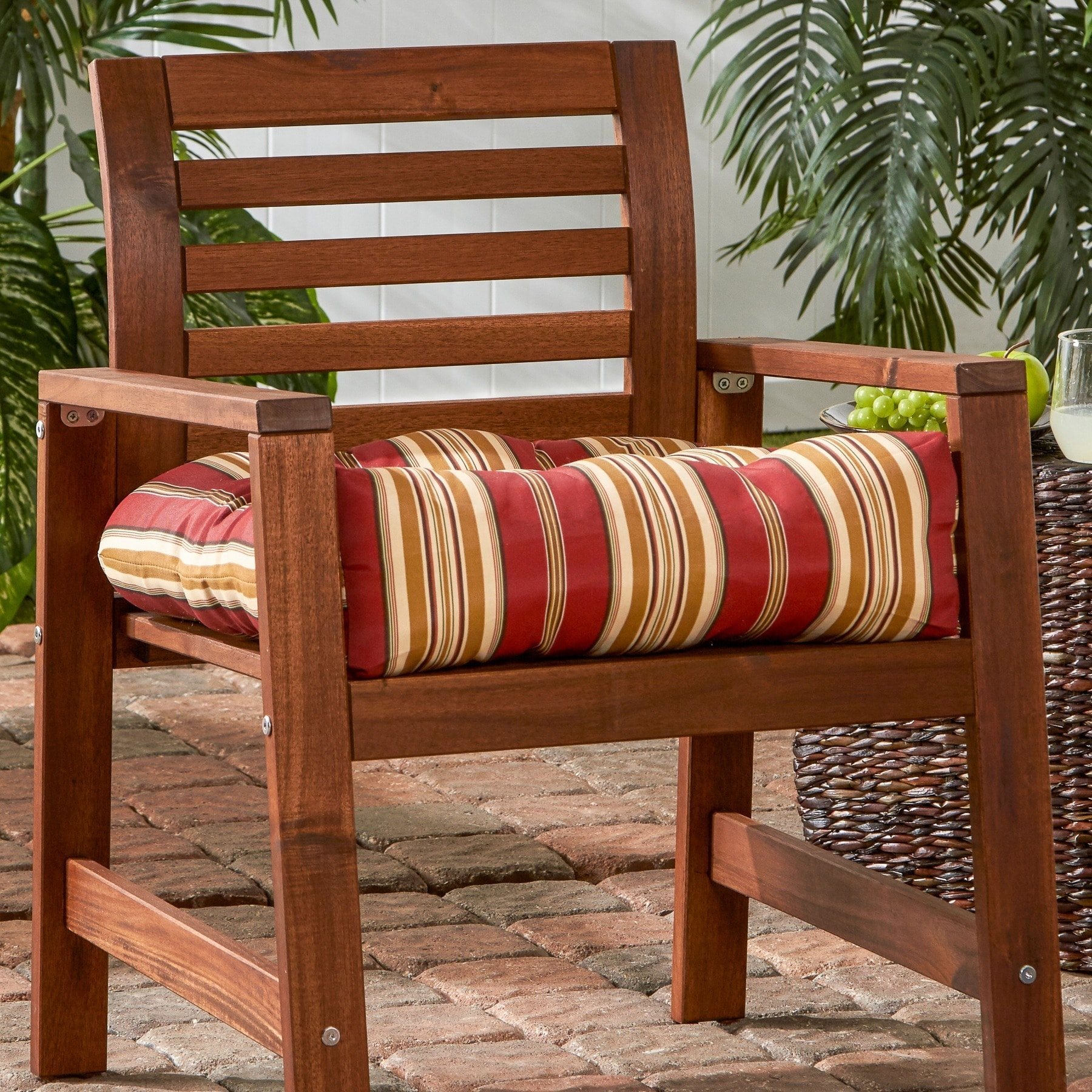 Shop Greendale Home Fashions Roma Stripe 20 Inch Outdoor Chair