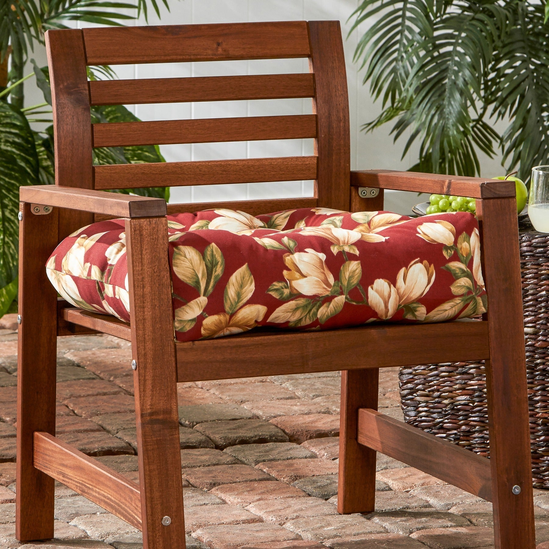 Shop Greendale Home Fashions Roma Floral 20 Inch Outdoor Chair