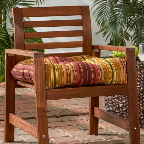 20-inch Outdoor Kinnabari Stripe Chair Cushion