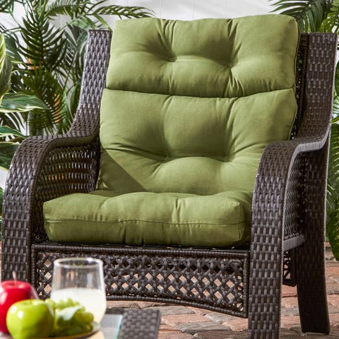 Havenside Home Rosewood Graham 3-section Outdoor Green High Back Chair Cushion