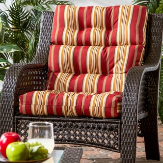 44x22-inch 3-section Outdoor Roma Stripe High Back Chair Cushion