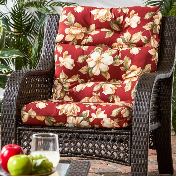 44x22 Inch 3 Section Outdoor Roma Floral High Back Chair