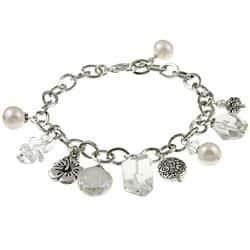 Lola's Jewelry Silvertone Clear Quartz and Pearl Flower Charm Bracelet|https://ak1.ostkcdn.com/images/products/6021594/Charming-Life-Silvertone-Clear-Quartz-and-Pearl-Flower-Charm-Bracelet-P13704493.jpg?impolicy=medium