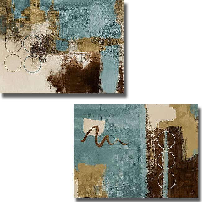 Lanie Loreth 'Wonder I and II' 2-piece Canvas Art Set
