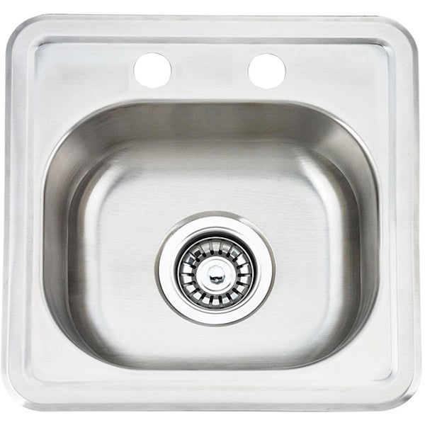 Fine Fixtures Top Mount Stainless Steel Single Bowl